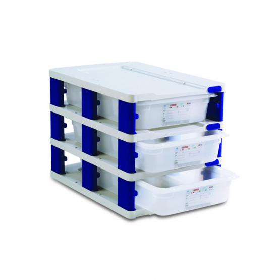 Gn 1  1 39 L     42 Qt Food Storage Tower With Containers